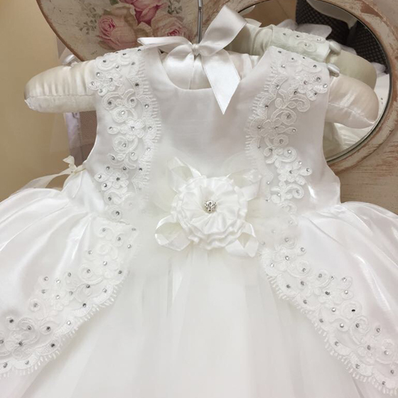 CT14393 Coute Tot Christening Dress