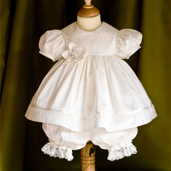 Christening Dress - Angels and fishes
