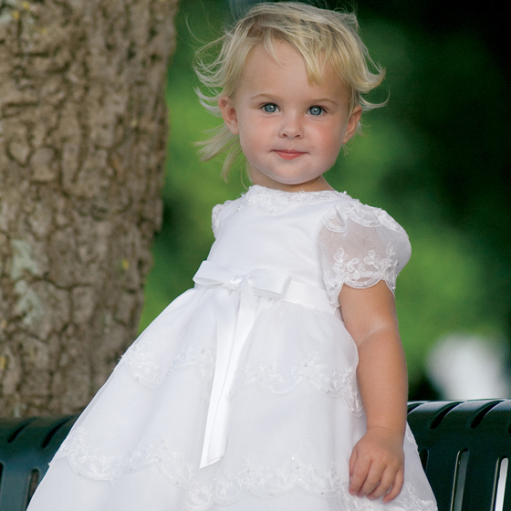 Sarah Louise Ceremonial Ballerina Length Christening Party Dress 70008